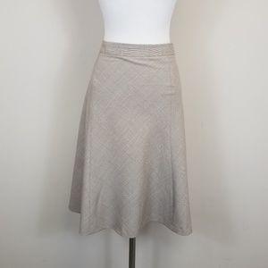 Banana Republic A-Line Plaid Skirt Wool Blend